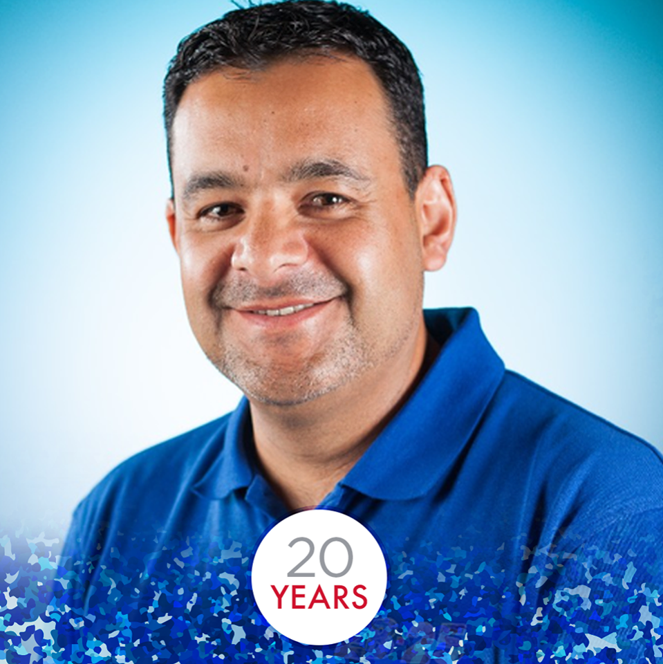 Pedro Celebrates 20 Years with EB